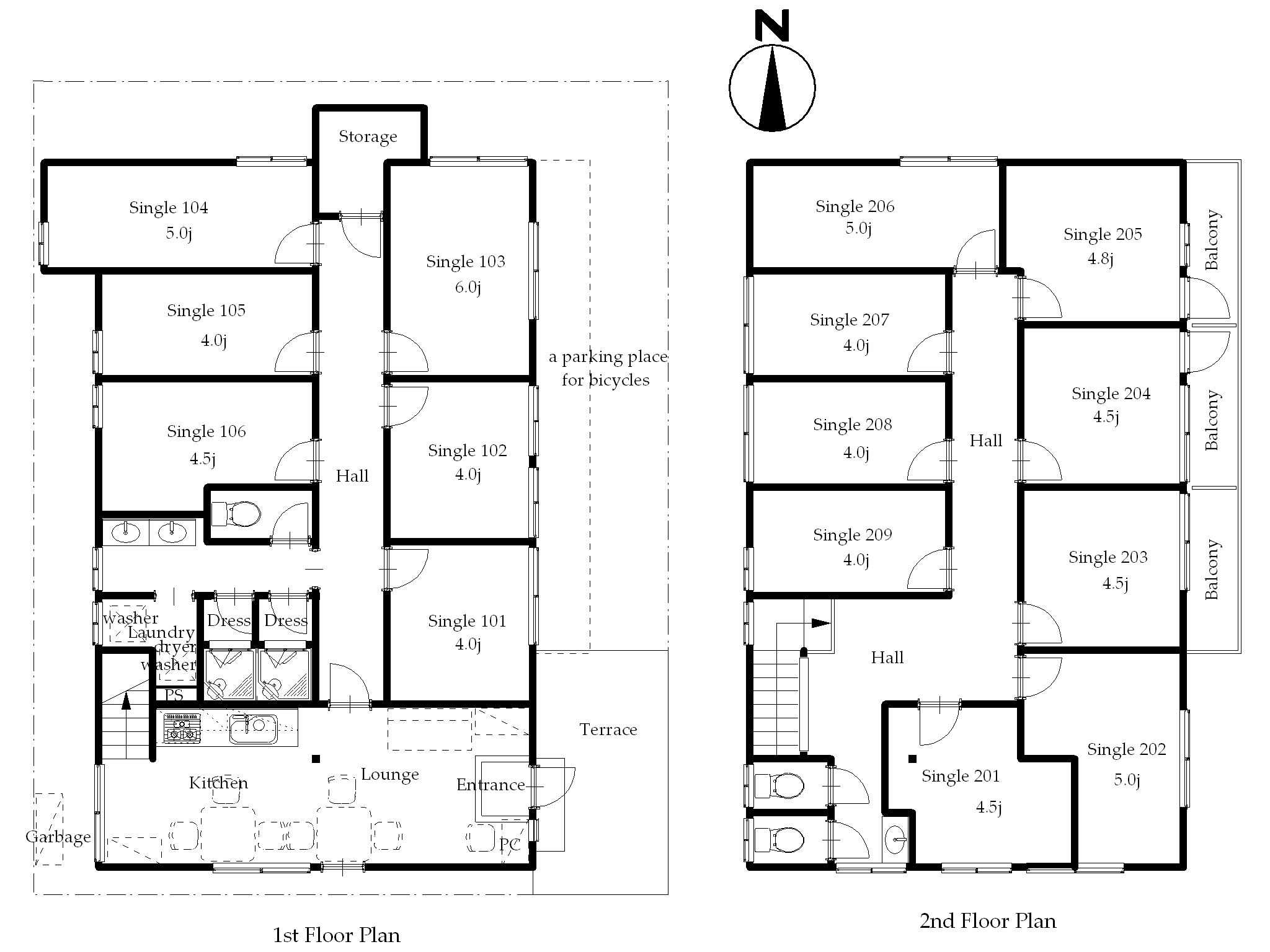 guesthouse sharehouse Premiere中野 floorplan1