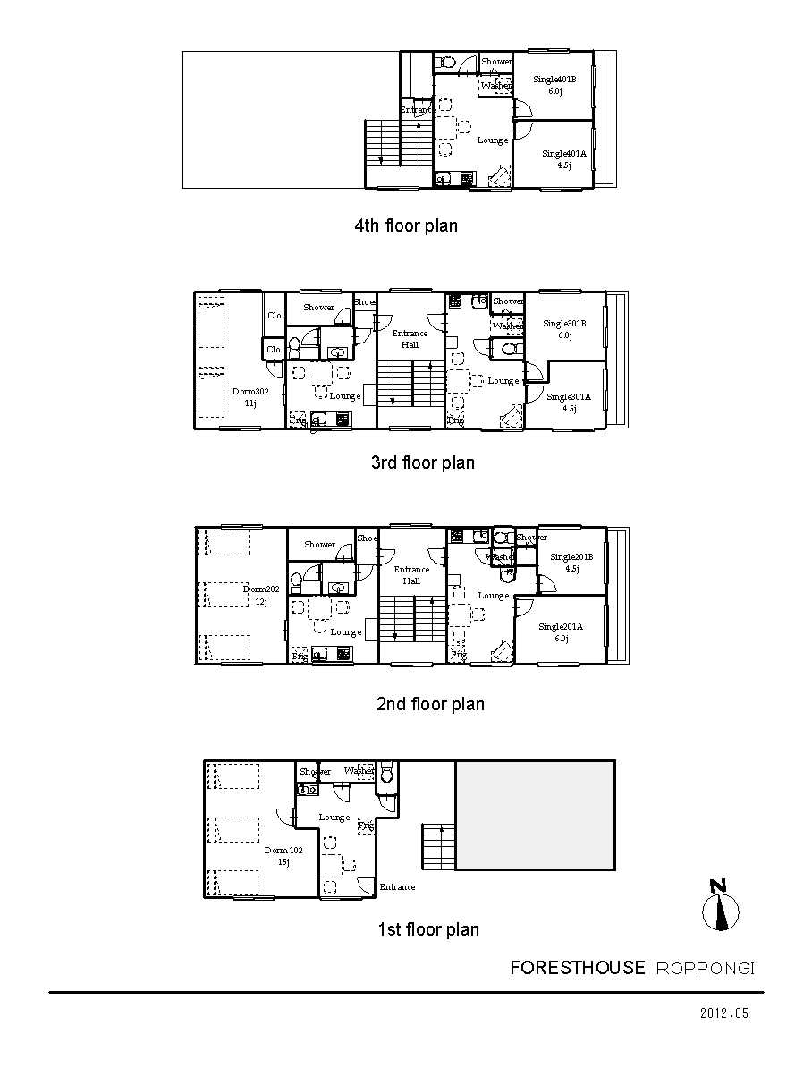 guesthouse sharehouse Forest House六本木。 floorplan1