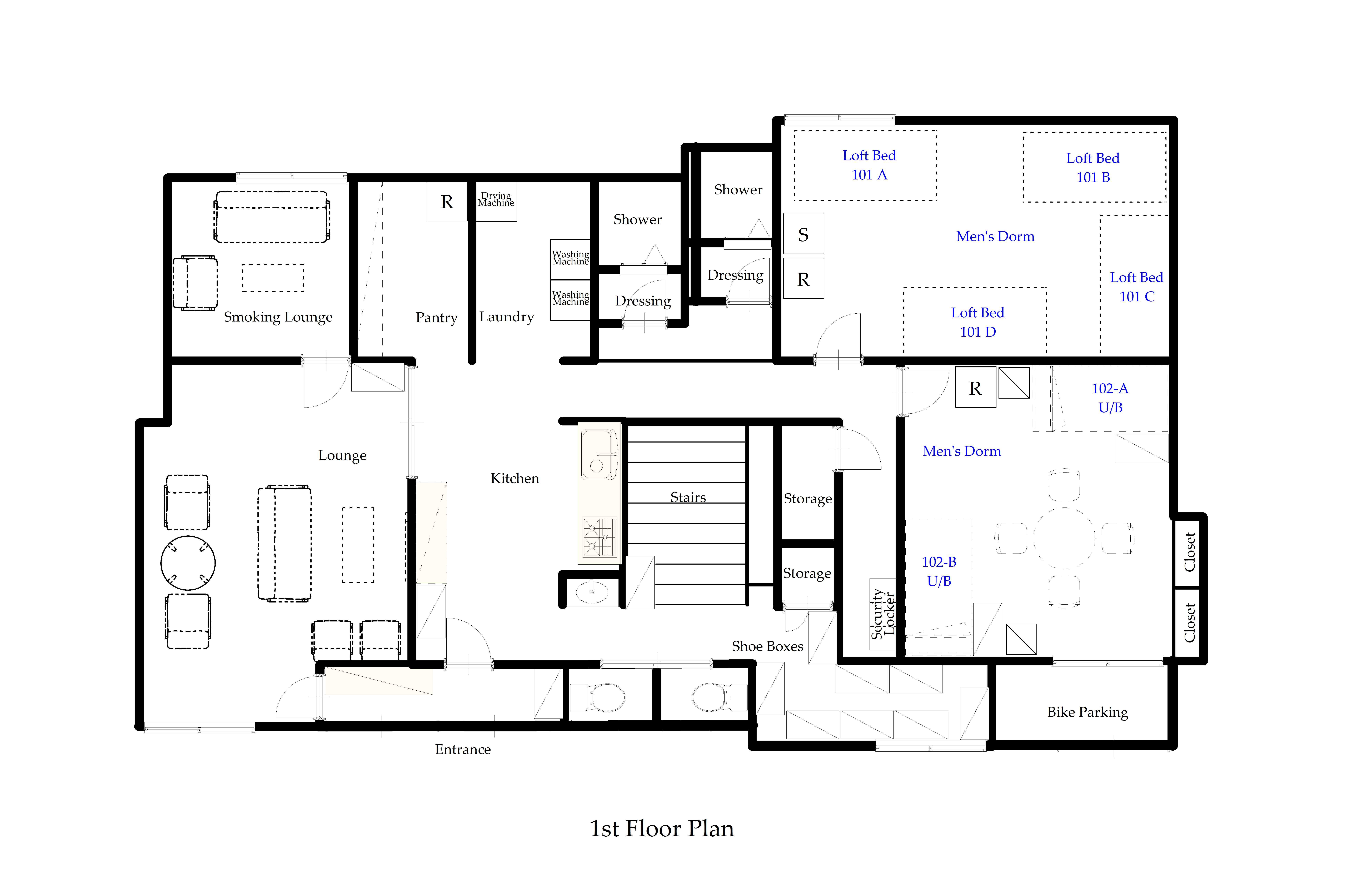 guesthouse sharehouse オークハウス品川大崎 floorplan1