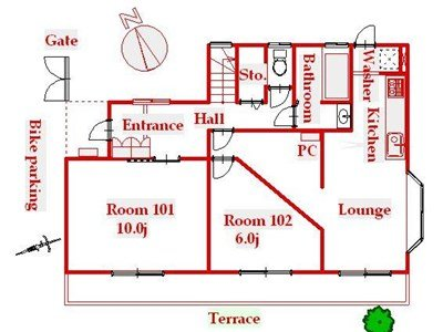 guesthouse sharehouse 오크하우스 카와사키 floorplan1
