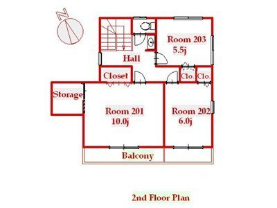 guesthouse sharehouse 오크하우스 카와사키 floorplan2