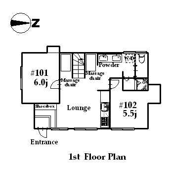 guesthouse sharehouse カフェROSE TOKYO floorplan1