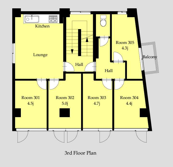 guesthouse sharehouse OAKHOUSE新宿City View floorplan3
