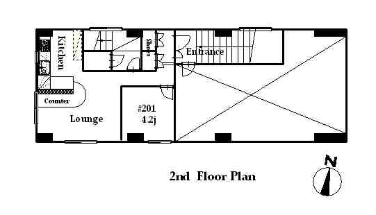 guesthouse sharehouse フローラ桜新町 floorplan1