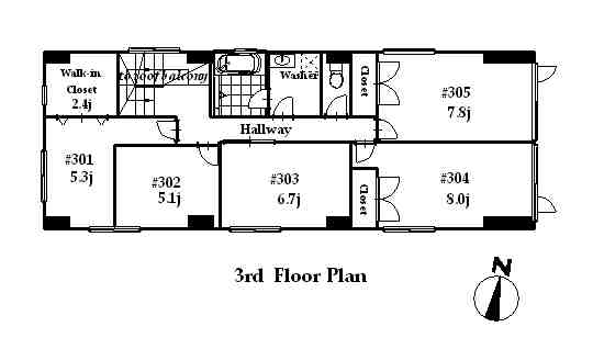 guesthouse sharehouse フローラ桜新町 floorplan2