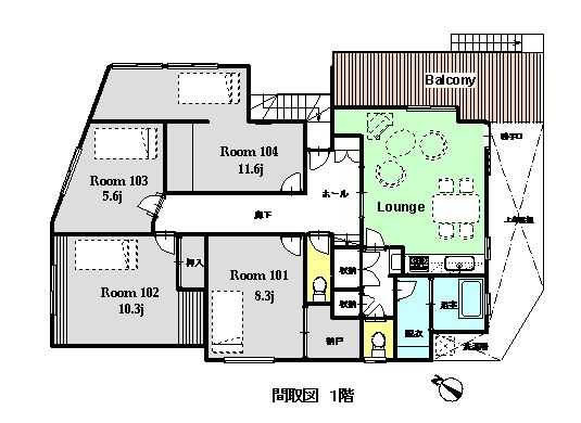 guesthouse sharehouse OAKHOUSE橫濱City View floorplan1