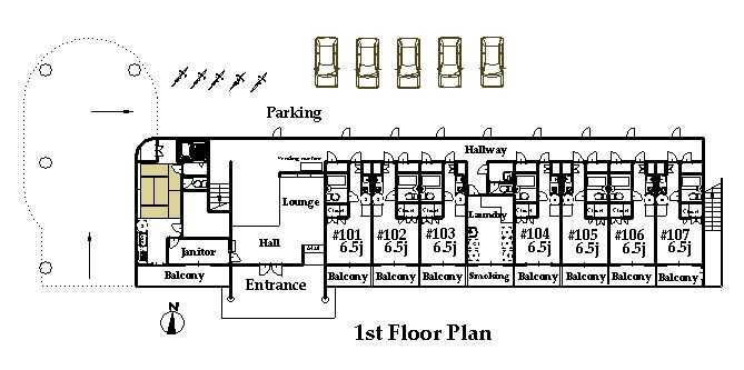 guesthouse sharehouse オークマンション横浜 floorplan1