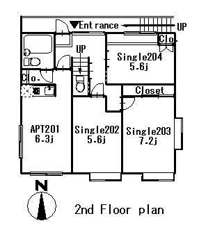 guesthouse sharehouse FLORA浮間公園 floorplan1