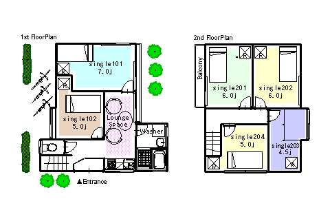 guesthouse sharehouse FLORA MOTOSUMIYOSHI floorplan1