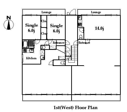 guesthouse sharehouse RIVERSIDE TSURUKAWA floorplan1