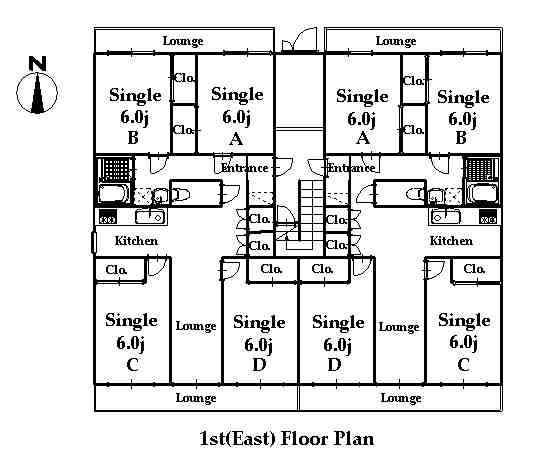 guesthouse sharehouse RIVERSIDE TSURUKAWA floorplan2