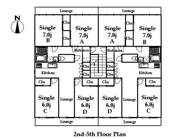 guesthouse sharehouse RIVERSIDE TSURUKAWA floorplan3