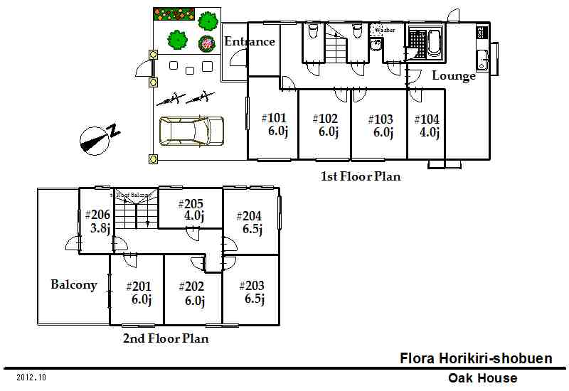 guesthouse sharehouse FLORA HORIKIRI floorplan1