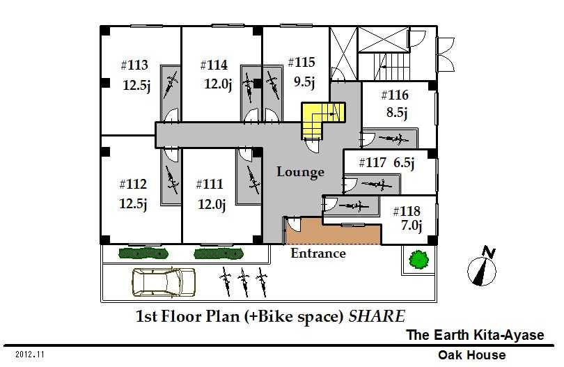 guesthouse sharehouse The Earth北綾瀬 floorplan1