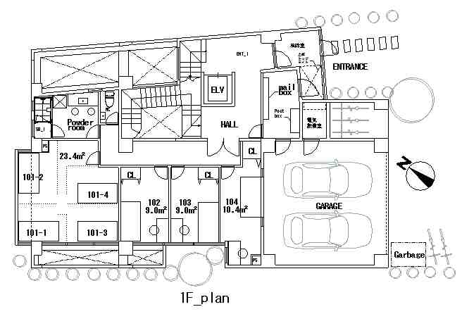 guesthouse sharehouse COMPARTIR SHINJUKU floorplan2