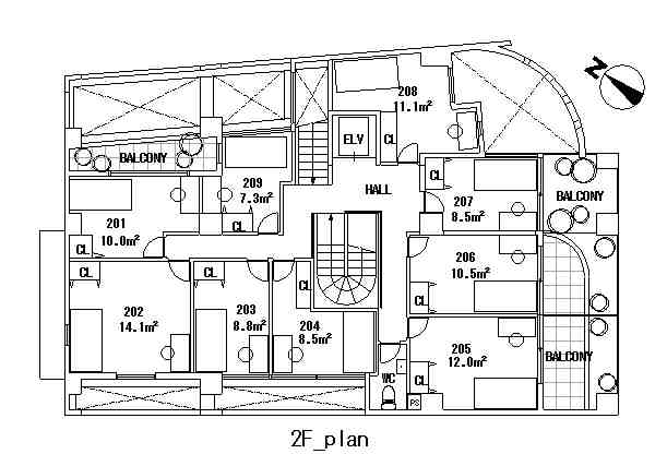 guesthouse sharehouse COMPARTIR SHINJUKU floorplan3