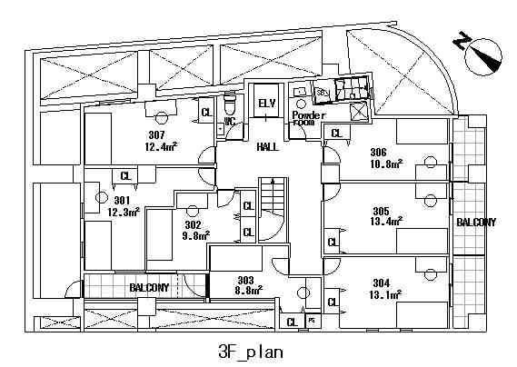 guesthouse sharehouse COMPARTIR SHINJUKU floorplan4