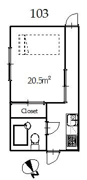 guesthouse sharehouse TSURUKAWA HILLS floorplan1