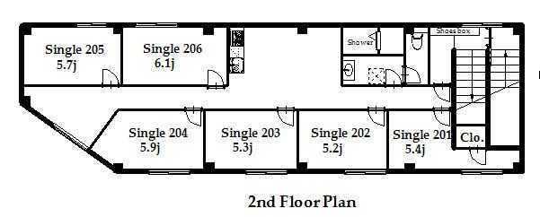 guesthouse sharehouse プレミア金町 floorplan1