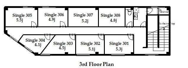guesthouse sharehouse プレミア金町 floorplan2