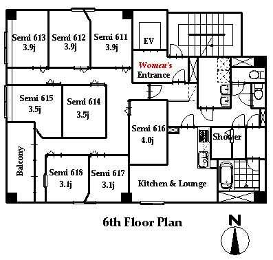guesthouse sharehouse OAKHOUSE秋葉原FLAT floorplan1