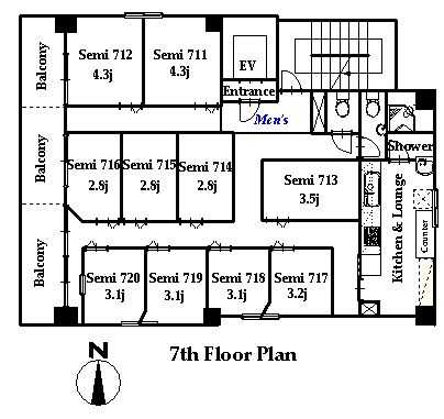 guesthouse sharehouse OAKHOUSE秋葉原FLAT floorplan2