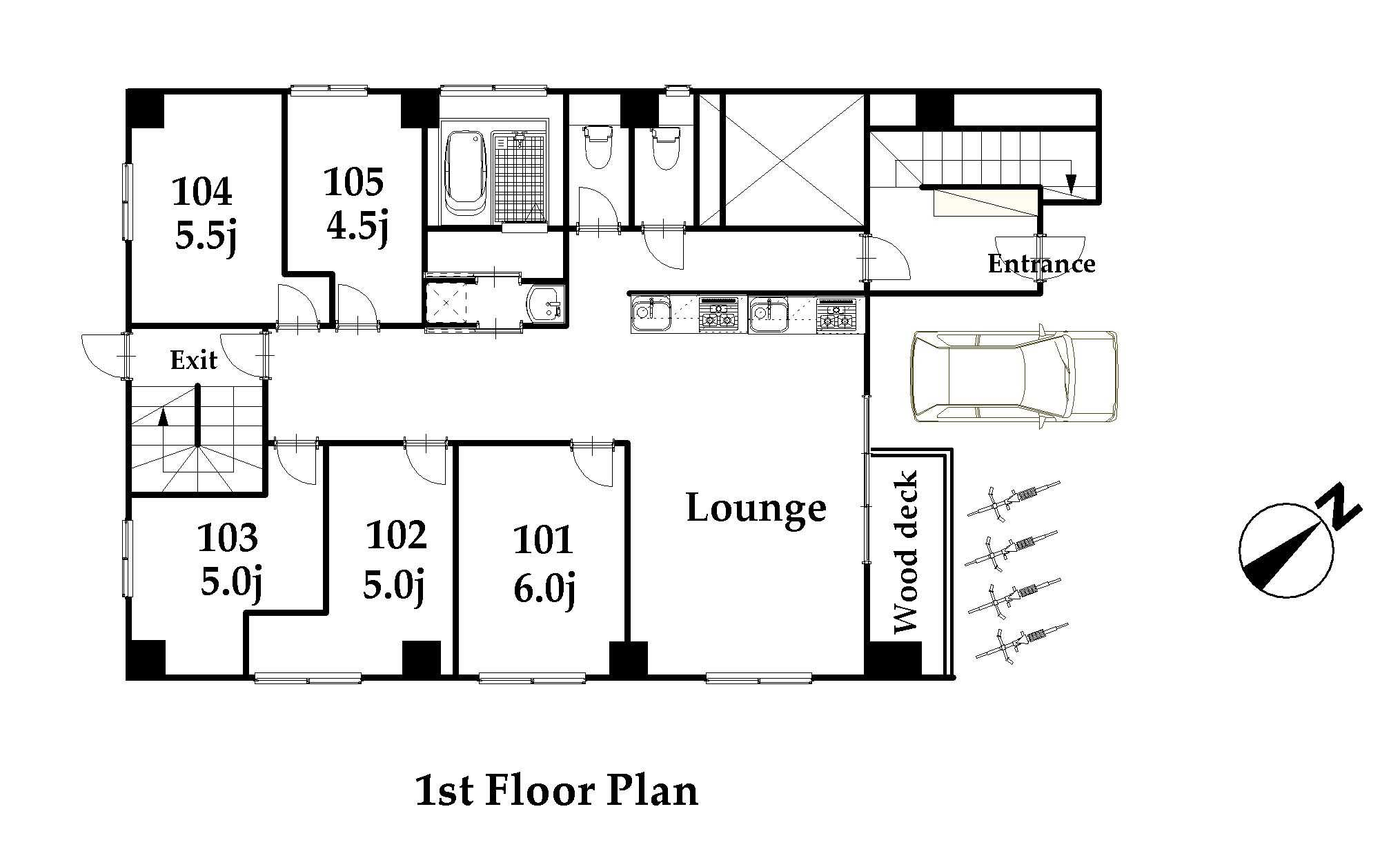 guesthouse sharehouse ジアス日暮里 floorplan1