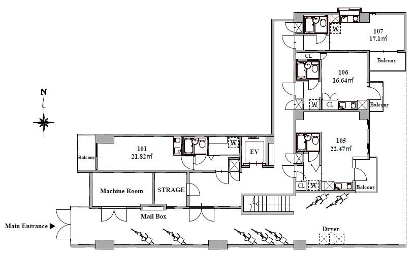 guesthouse sharehouse オークマンション大森 floorplan1