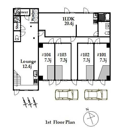 guesthouse sharehouse ジアス白金高輪 floorplan1