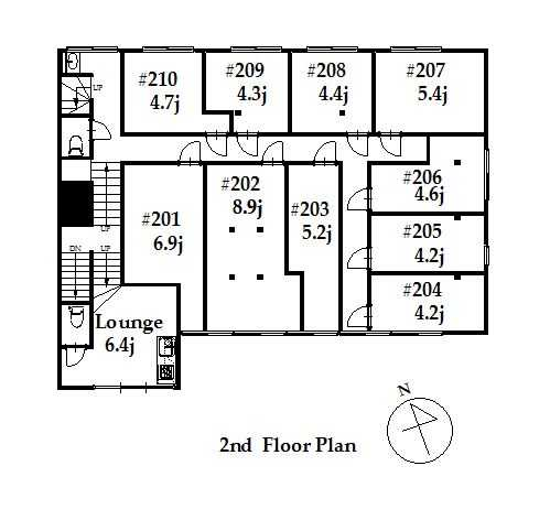guesthouse sharehouse ジアス白金高輪 floorplan2