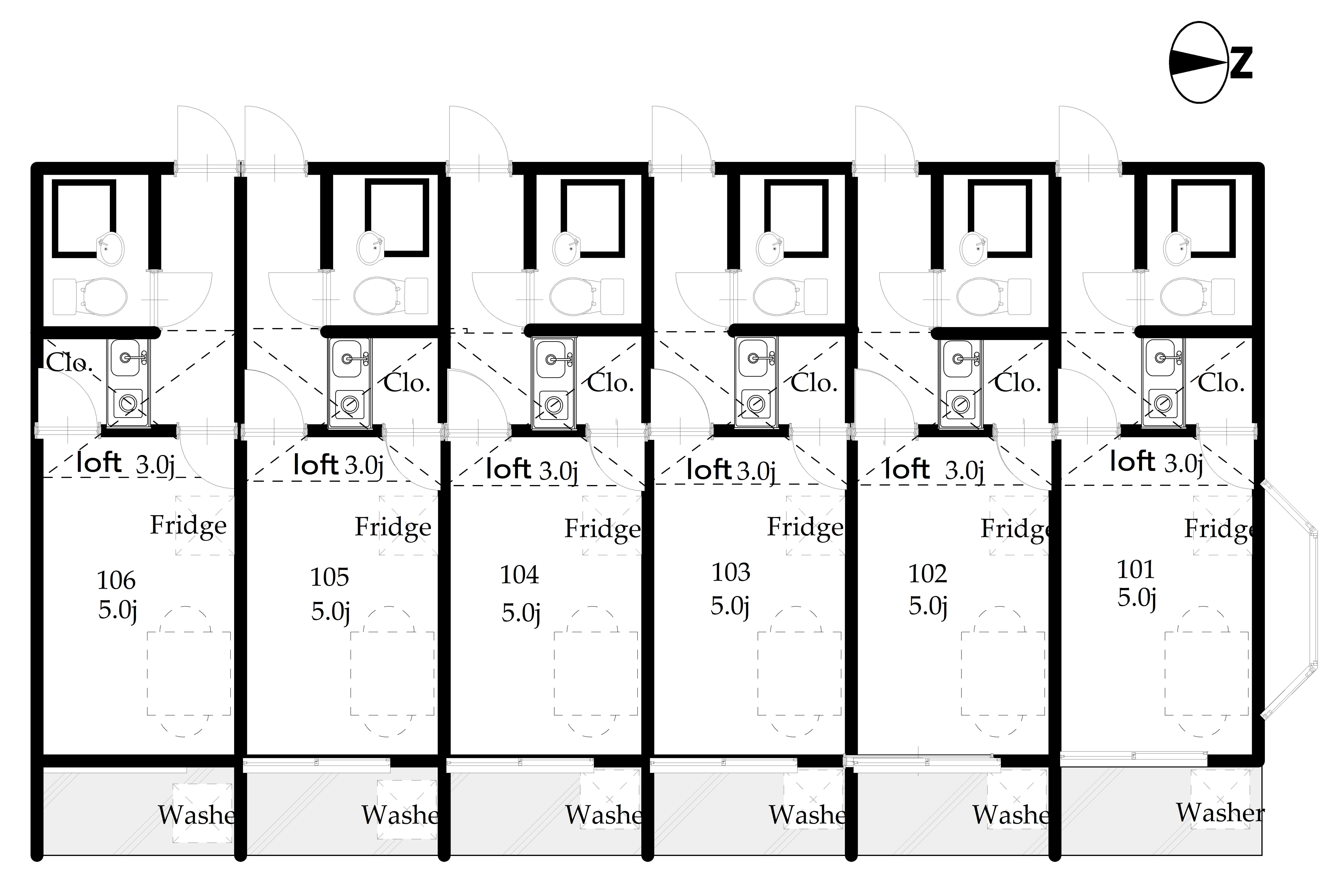 guesthouse sharehouse OAK APARTMENT OJI floorplan1