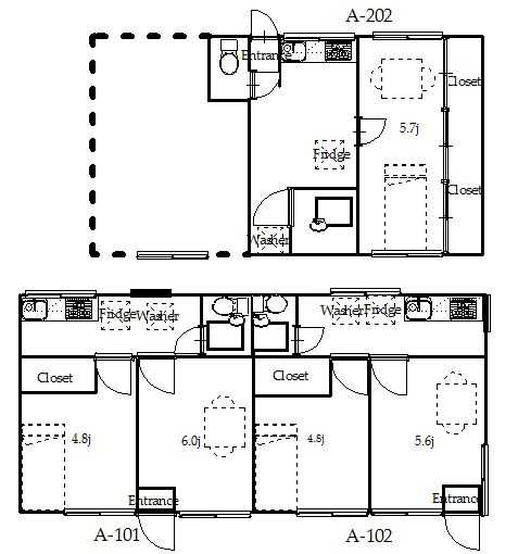 guesthouse sharehouse OAK APARTMENT SETAGAYA KYODO floorplan1