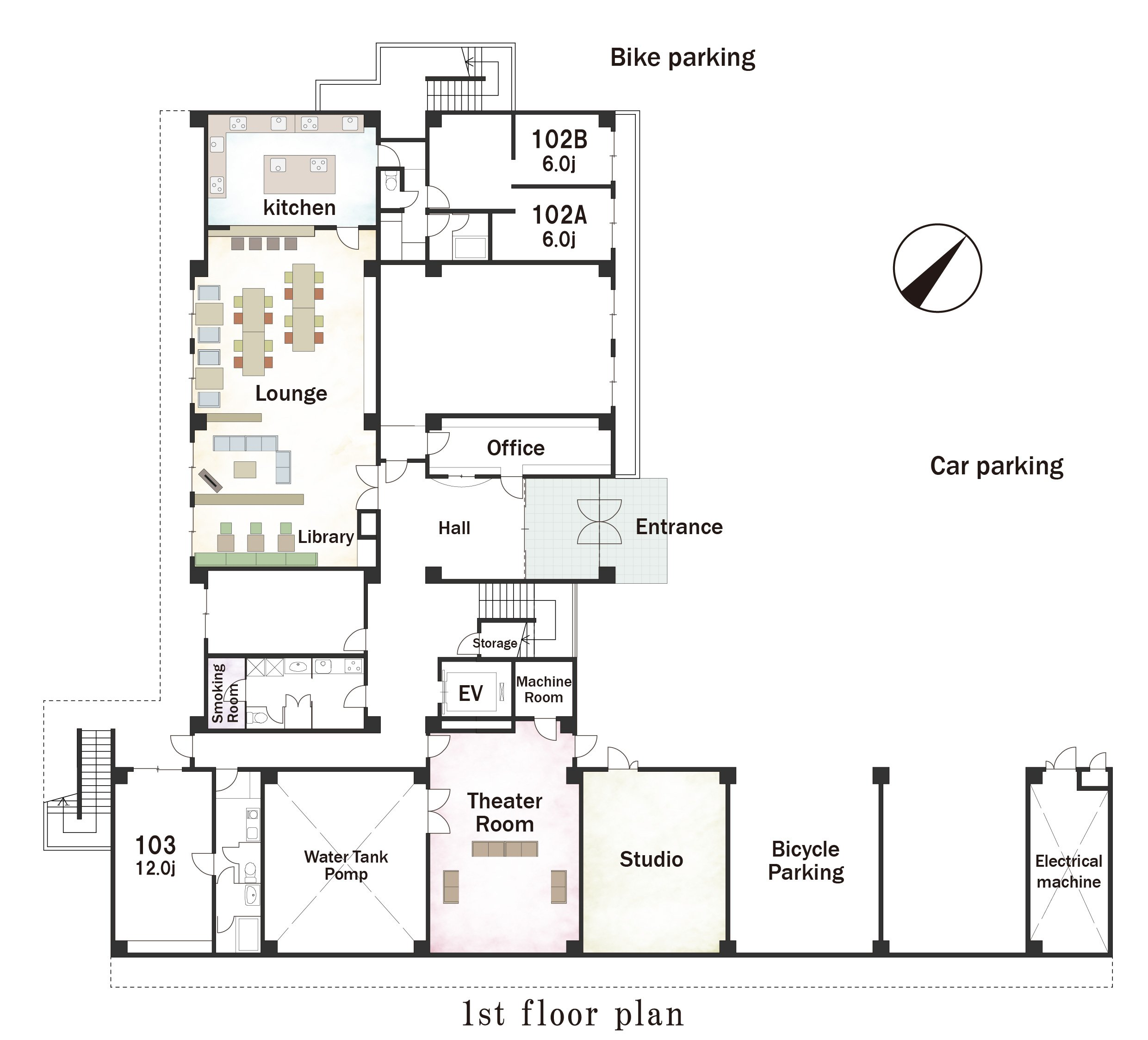 guesthouse sharehouse Social residence 신유리가오카 floorplan1