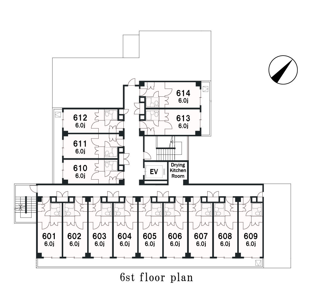 guesthouse sharehouse Social residence 신유리가오카 floorplan6