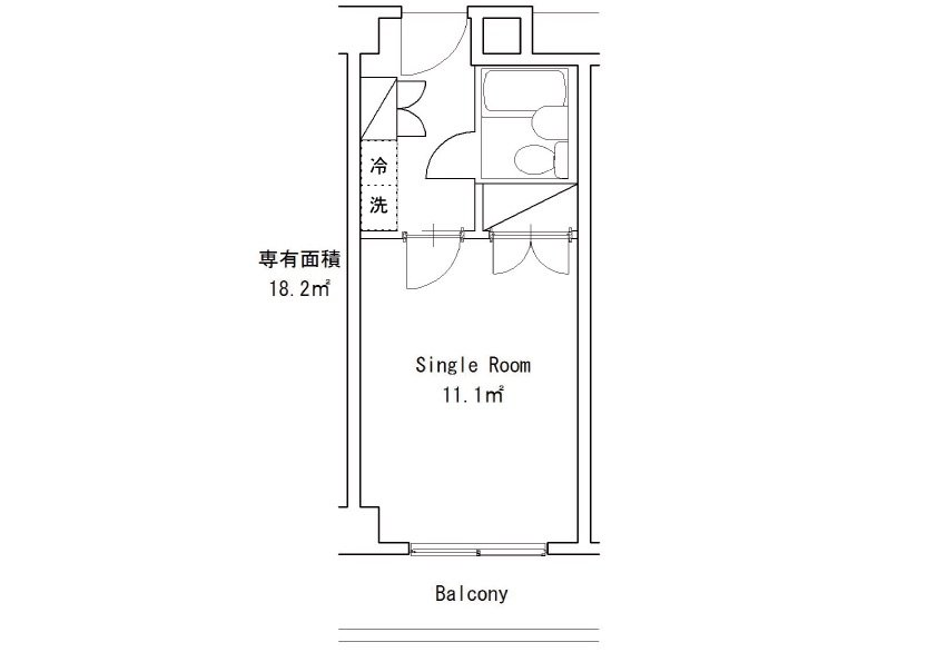 guesthouse sharehouse Social residence 신유리가오카 floorplan7