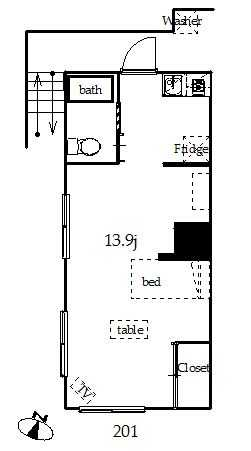 guesthouse sharehouse CREST清水町 floorplan1