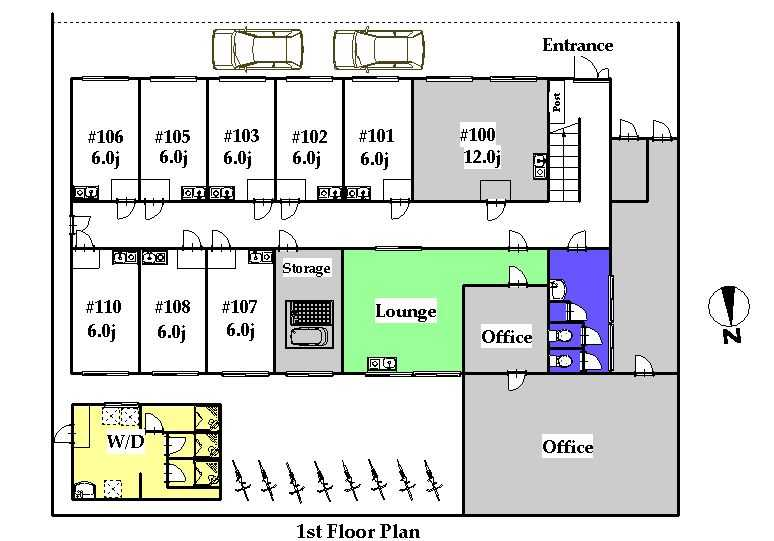 guesthouse sharehouse オークハウス板橋高島平 floorplan1