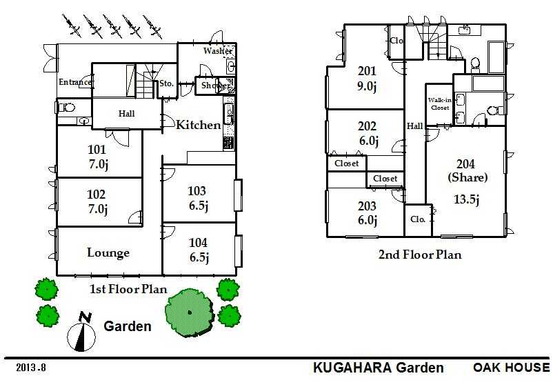 guesthouse sharehouse KUGAHARA GARDEN floorplan1