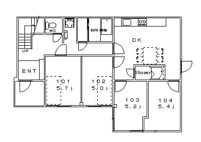 guesthouse sharehouse 堀切レトロ館 floorplan1