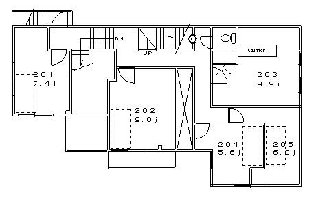 guesthouse sharehouse 堀切レトロ館 floorplan2
