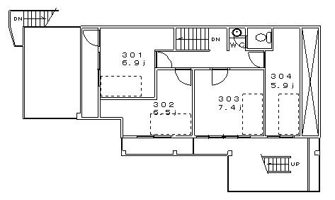 guesthouse sharehouse 堀切レトロ館 floorplan3