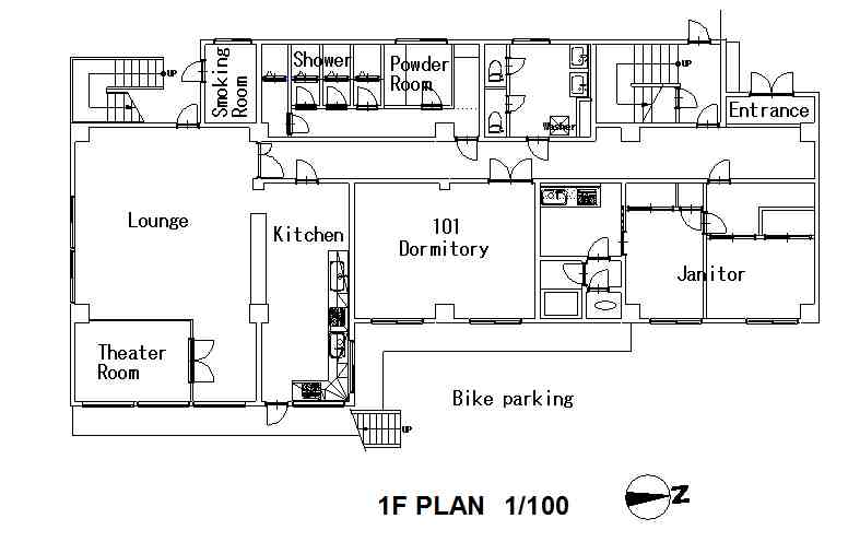 guesthouse sharehouse Premiere 綾瀬 floorplan1