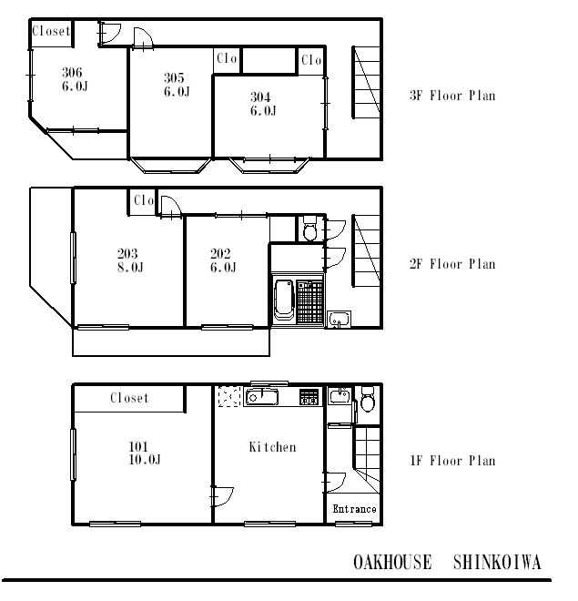 guesthouse sharehouse オークハウス新小岩 floorplan1