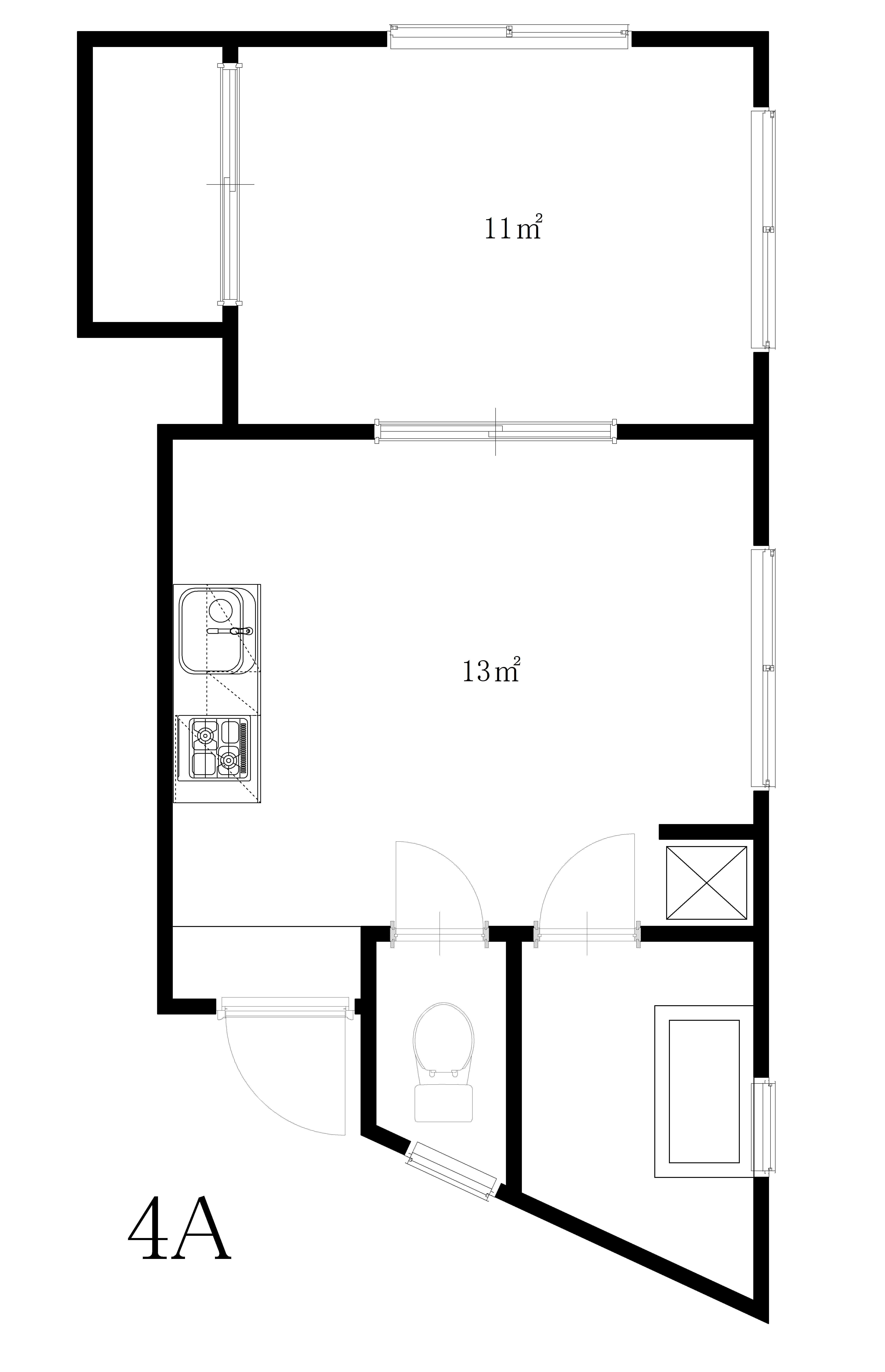 guesthouse sharehouse YAZU APARTMENT floorplan4