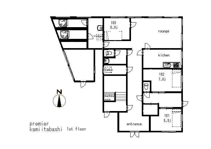 guesthouse sharehouse プレミア上板橋 floorplan1