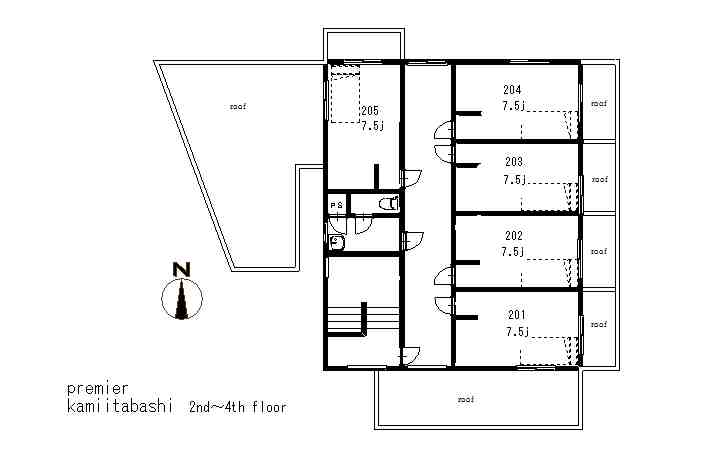 guesthouse sharehouse プレミア上板橋 floorplan2