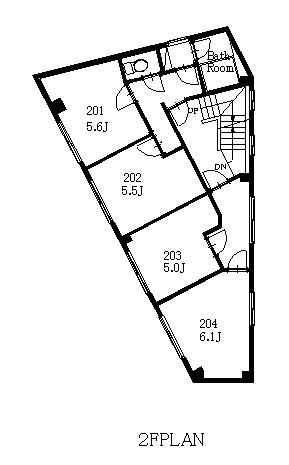 guesthouse sharehouse CYCLIST LOUNGE市ヶ谷 floorplan2