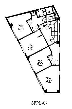 guesthouse sharehouse CYCLIST LOUNGE市ヶ谷 floorplan3