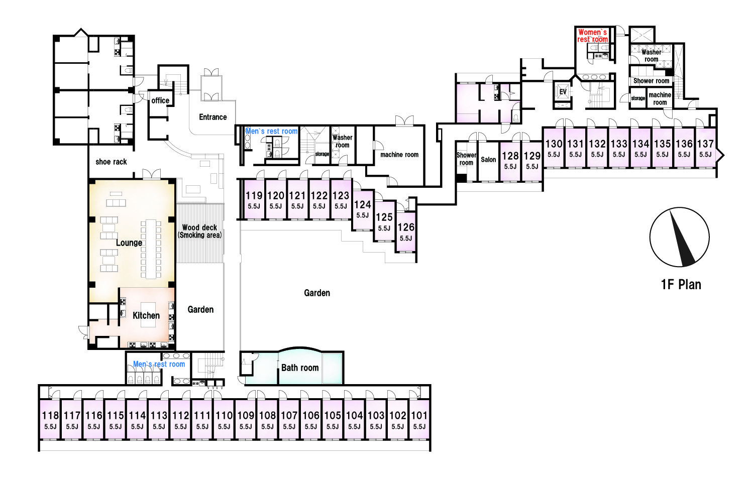 guesthouse sharehouse Social residence 히가시코가네이 floorplan1
