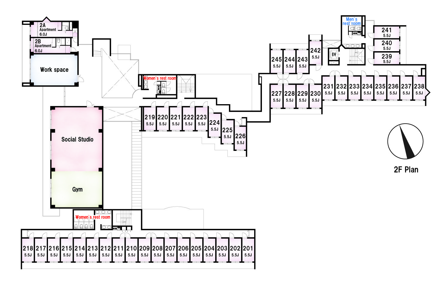 guesthouse sharehouse Social residence 히가시코가네이 floorplan2